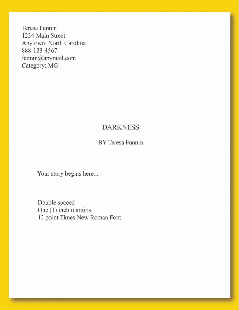 Example of the first page of your manuscript submission