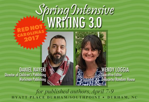 Writing 3.0 for published authors, April 7-9, Durham, NC.